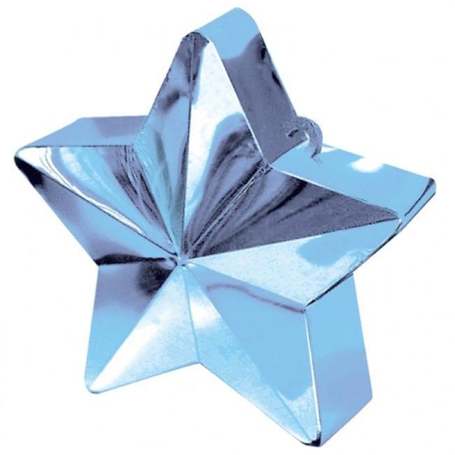Peso para balão Estrela Azul Claro
