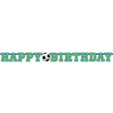 Banner Happy Birthday 1,3m x 10,2cm Futebol