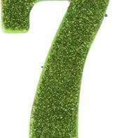 Vela Aniversário 10cm nº7 Verde Lima
