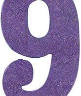 Vela Aniversário 10cm nº9 Roxo