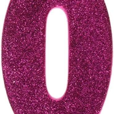 Vela Aniversário 10cm nº0 Rosa