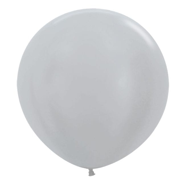 Balões Latex 24'' Satin Silver 481