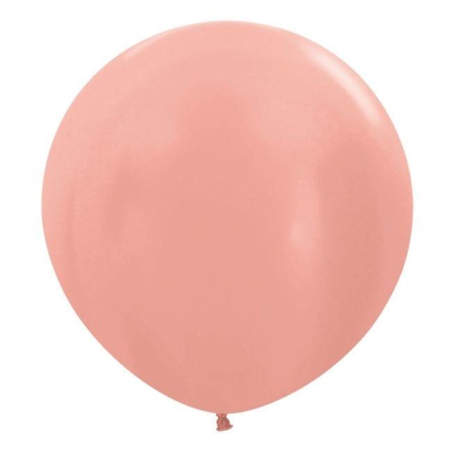 Balões Latex 24'' Metallic Solid Rose Gold 568