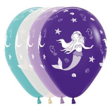 Balões Latex 12'' Sortido Sereia