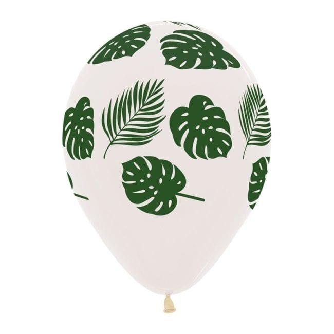 Balões Latex 12'' Brancos com Folhas