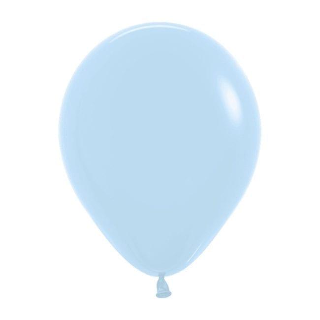 Balões Latex 5'' Pastel Matte Solid Blue 640