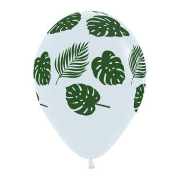 Balões Latex 12'' Transparentes com Folhas