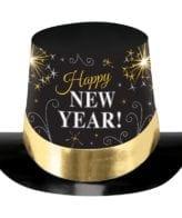 Cartola Happy New Year Preto & Dourado