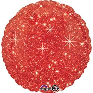 Balão Foil  Sparkle Vermelho