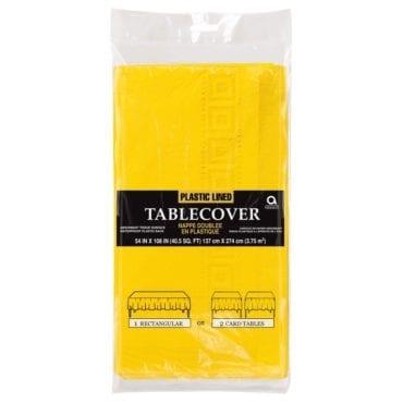 Toalha de mesa papel 1,37 x 2,75cm Amarelo