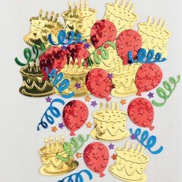 Confettis Balões & Bolos Coloridos