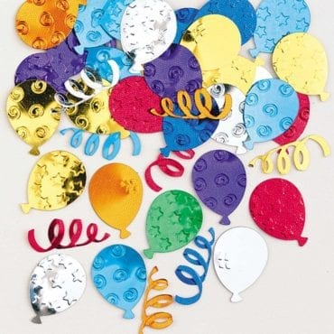 Confettis Balões Coloridos