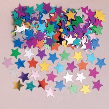 Confettis 14g Estrelas Colorido