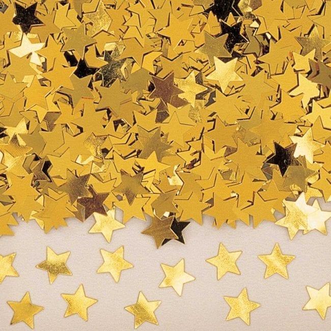Confettis 14g Estrelas Dourado