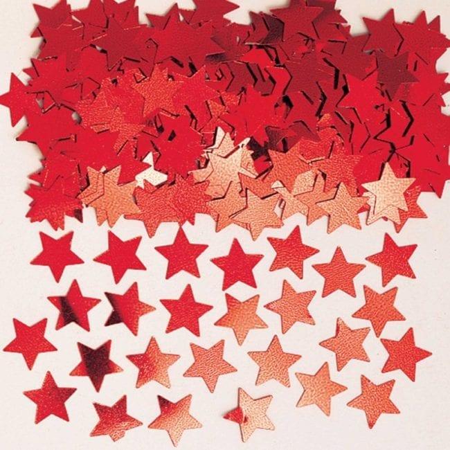 Confettis 14g Estrelas Vermelho