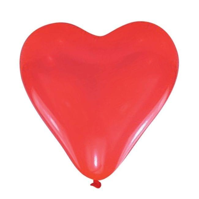 Balões Latex Meduim Corações Vermelhos