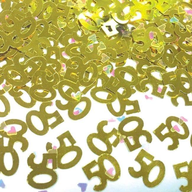 Confettis 50º Aniversário Dourado