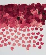 Confettis 14g Corações Burgundy