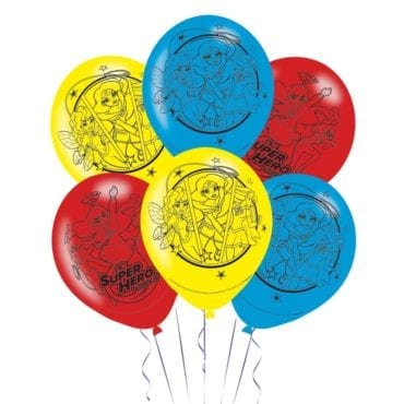 Balões Latex 11'' DC Super Hero Girls