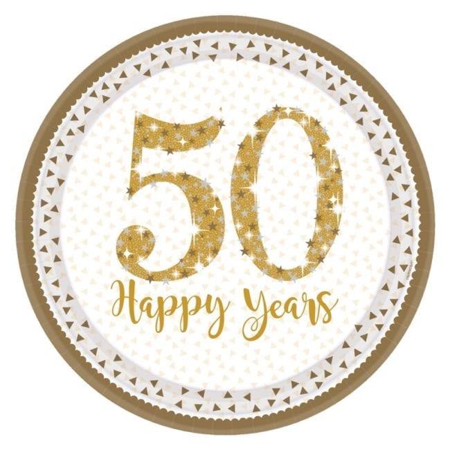 Pratos 23cm Golden Anniversary 50