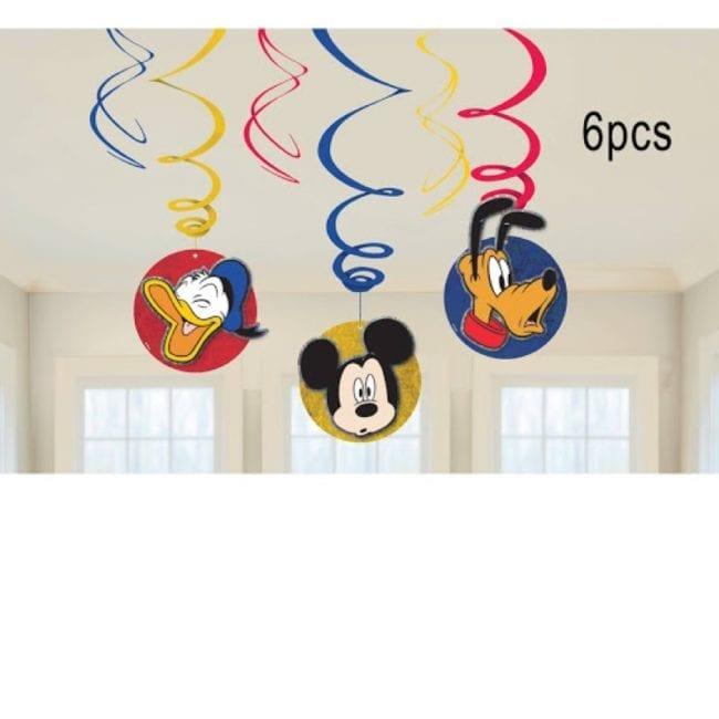 Espirais Decorativas Mickey Mouse