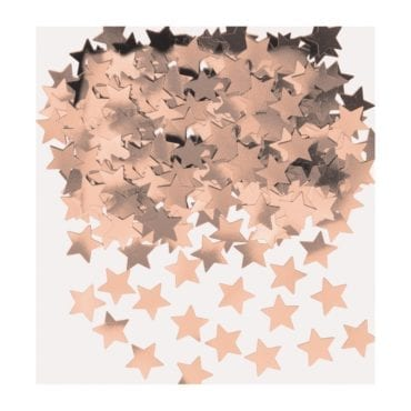 Confettis 14g Estrelas Rose Gold