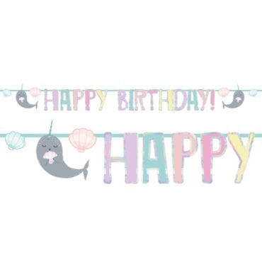 Banner Happy Birthday Narwhal