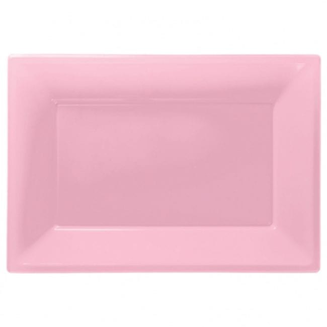 Travessas Plástico 33 x 23cm Rosa Claro