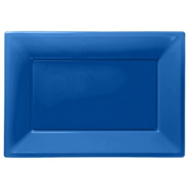 Travessas Plástico 33 x 23cm Azul Médio