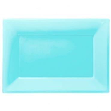 Travessas Plástico 33 x 23cm Azul Claro