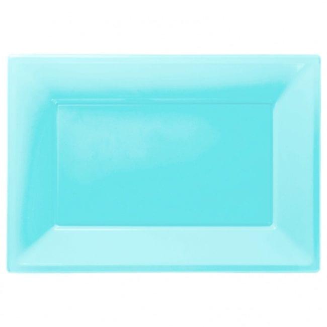 Travessas Plástico 33 x 23cm Azul Caribe