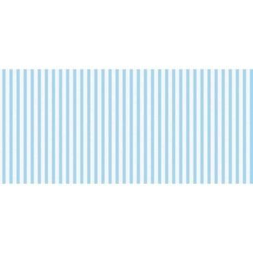 Corredor de mesa 28cmx5m Linho Riscas Azul Claro
