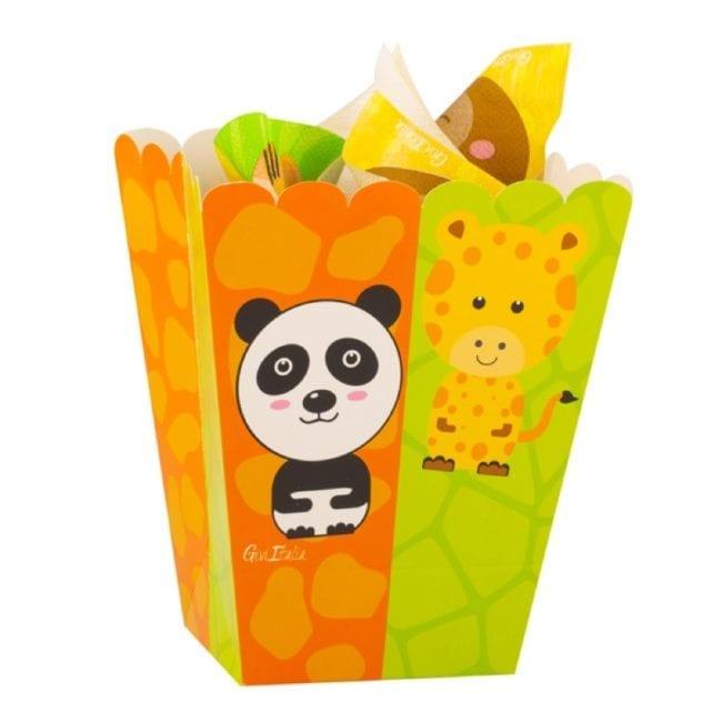 Caixas de Pipocas Zoo Party
