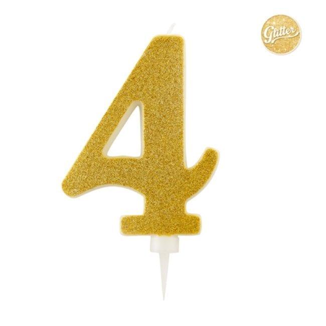 Vela Aniversário Big Size 15cm Dourado Glitter nº4