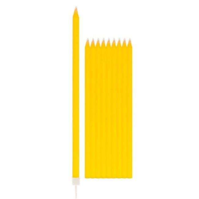 Velas de Aniversário 15,5cm Amarelo