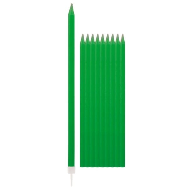Velas de Aniversário 15,5cm Verde Escuro