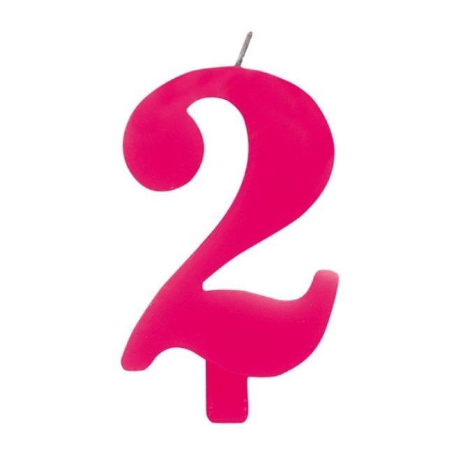 Vela Aniversário 9,5cm Sparkling Rosa nº2