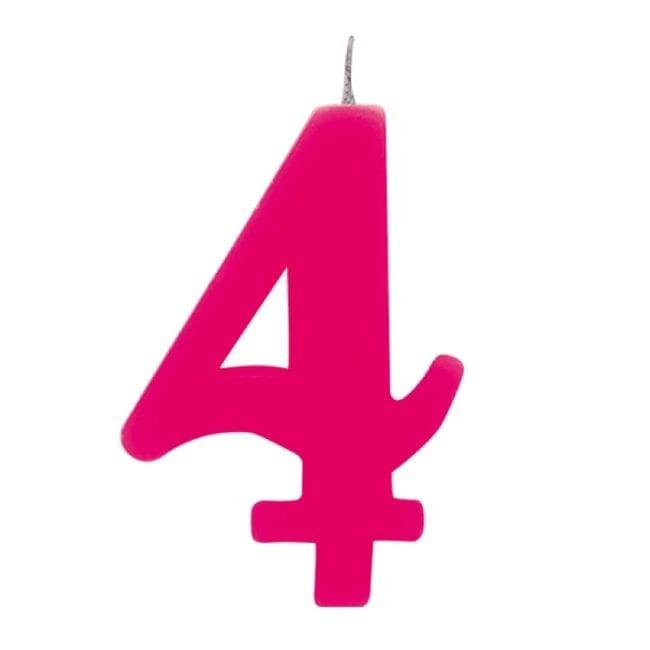 Vela Aniversário 9,5cm Sparkling Rosa nº4