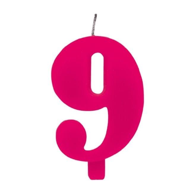 Vela Aniversário 9,5cm Sparkling Rosa nº9