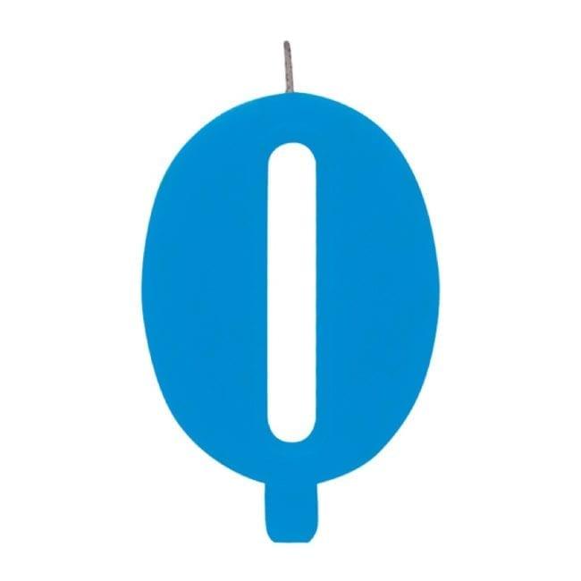 Vela Aniversário 9,5cm Sparkling Azul nº0