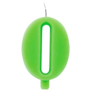 Vela Aniversário 9,5cm Sparkling Verde nº0
