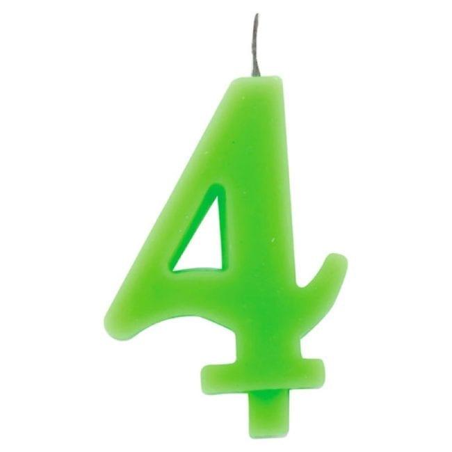 Vela Aniversário 9,5cm Sparkling Verde nº4