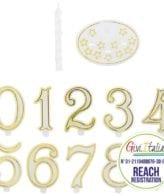 Vela Aniversário 7,5cm Perlada com 10 números + base