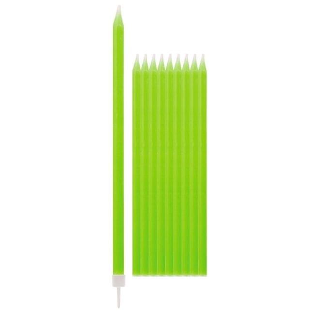Velas de Aniversário 15,5cm Verde Lima