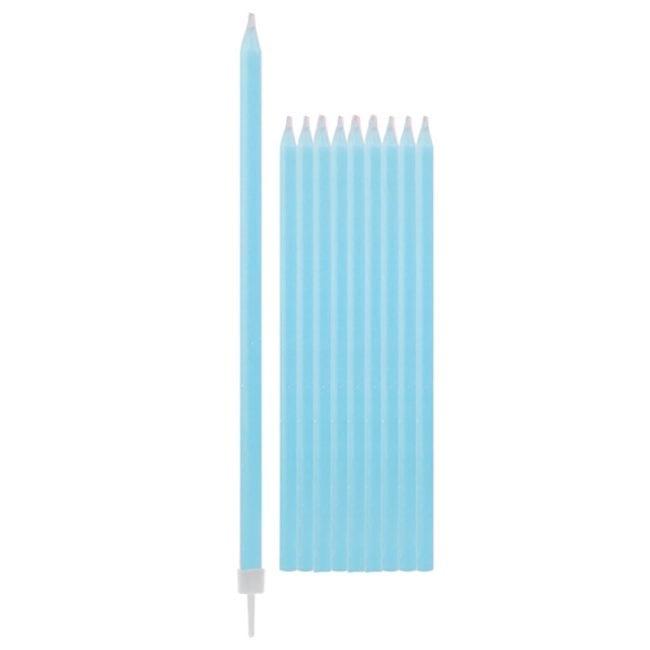 Velas de Aniversário 15,5cm Azul Claro