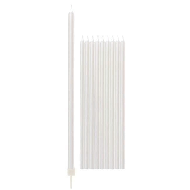 Velas de Aniversário 15,5cm Branco Perlado