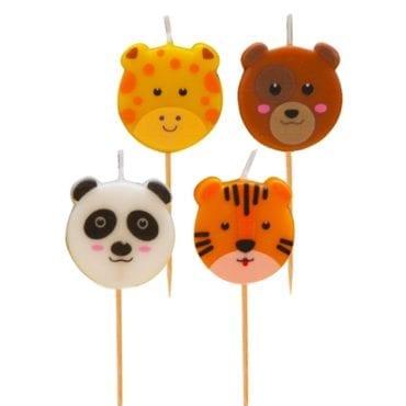 Velas de Aniversário Zoo Party