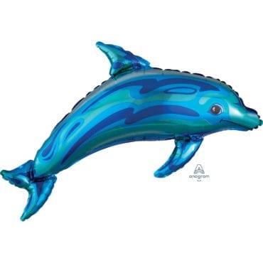 Balão Foil SuperShape Golfinho Azul