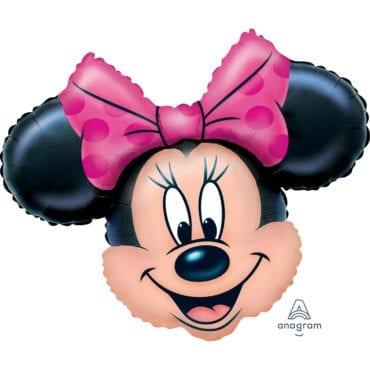 Balão Foil  SuperShape Cabeça Minnie Mouse