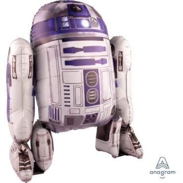 Balão Foil Airwalker Star Wars - R2D2